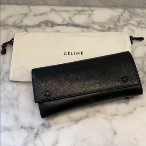 Celine Multifunctional Flap Wallet - Black